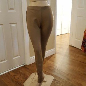 Peck & Peck Thick Taupe Leggings Size 6 Small NWT